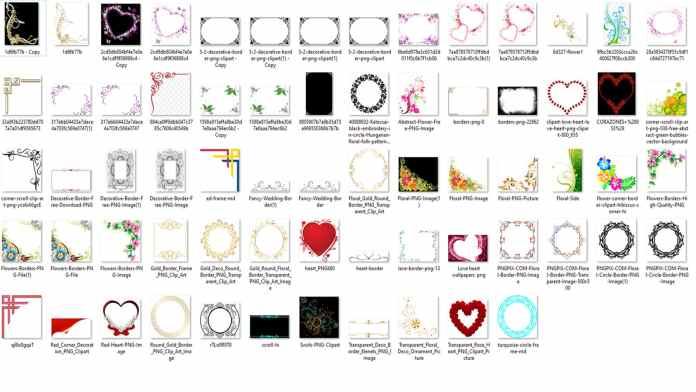 50-Wedding-Border-Mix-Png-Free-Download-min