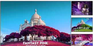 Fantasy Pink Photoshop Action Free Download