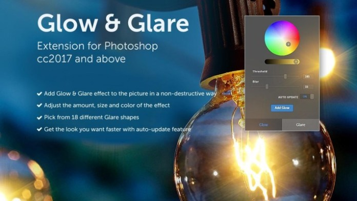 Glow and glare photoshop extension free download