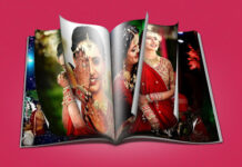 Open Book Album Design PSD
