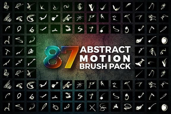 abstract Motion Brush Pack Photoshop Free Download