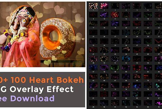 heart bokeh overlay