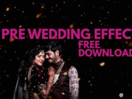 Pre Wedding Color Effect Free Download