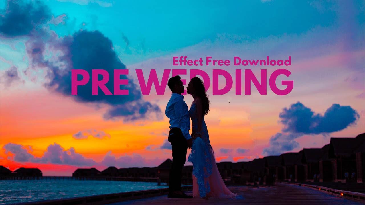 Pre wedding color effect