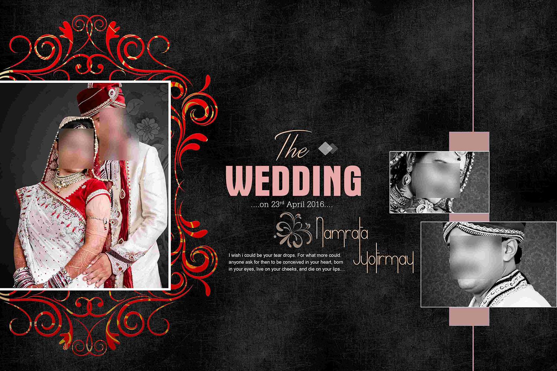 Wedding Album DM Cover 12x18 Swaroop Creation